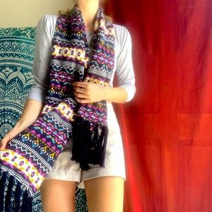 Norwegian autumn winter scarf